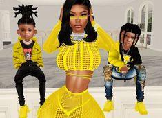 Black Girl Cartoon, Black Girl Art, Afro Hair Sims 4 Cc, Cute Mixed Kids, Black Bratz Doll, Grey Ink Tattoos, Drawings Of Black Girls, Boy Outfits, Fashion Outfits
