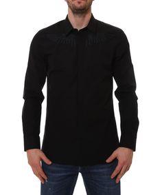 GIVENCHY Givenchy Men'S 17S6038300001 Black Cotton Shirt'. #givenchy #cloth #dress shirts