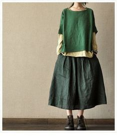 38 ideas for sewing jeans simple Mori Girl Fashion, Womens Fashion, Moda Casual, Spring Shirts, Green Shorts, Mode Inspiration, Style Me, Boho Chic, Street Style