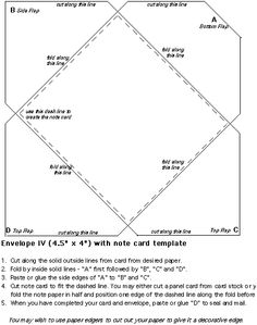 4+X+6+Envelope+Template   bar 4 3 4 x 6 1 2   Stuff I want to make ...