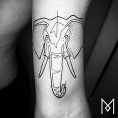 #singleline #blacktattooart #onlyblackart #inkstinctsubmission #equilattera #tattrx #darkartists #tattooistartmagazine #elephant #moganji #singleline