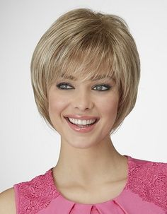 Fresh Start Wig by Natural ImageAll-over precision layers, a soft, wispy fringe and a stunning silhouette define Fresh Start- a wig that'll get heads turning.Fresh Start offers you the latest in…More Short Thin Hair, Short Hair Wigs, Short Hair With Layers, Short Hair Cuts For Women, Short Bob Hairstyles, Wig Hairstyles, Shot Hair Styles, Hair Pieces, Fresh Start