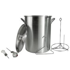 Backyard Pro 30 Quart Aluminum Stock Pot / Turkey Fry Pot with Lid and Accessories - http://cookware.everythingreviews.net/10814/backyard-pro-30-quart-aluminum-stock-pot-turkey-fry-pot-with-lid-and-accessories.html