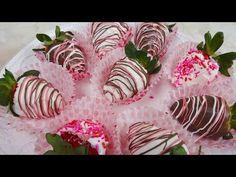Dulces tentaciones/Como Hacer Bombones de Chocolate con Fresa :) - YouTube