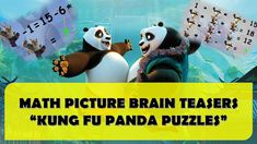 MATH PICTURE BRAIN TEASERS - KUNG FU PANDA PUZZLES    BEST BRAIN WORKOUT... Animated Cartoons, Cool Cartoons, Emoji Quiz, Funny Riddles, The Odd Ones Out, Cartoon Fun, Brain Training Games, Best Brains, Kung Fu Panda
