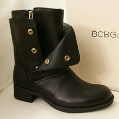 BCBGeneration Leather Boots BCBGeneration Leather Boots!  Size 6  Genuine leather upper Side zipper/snap closure Round toe Soft rubber soles Original shoe box included  Condition: Brand New Color: Black *Last One BCBGeneration Shoes Ankle Boots & Booties