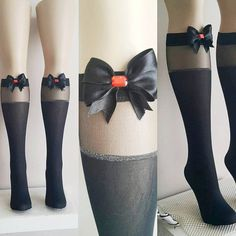 GOTH Black Beautiful Embellished Stockings With #woman #gifts #present #sale  #etsy #gifts #ocean #accessory #handmade #UniqueHandmade  #womenfashion #giftforwomen #promomyshop