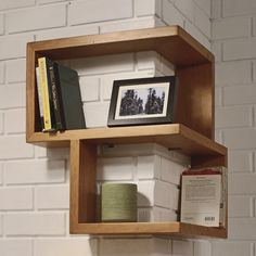 franklin shelf by tronk design. can also be flipped to mount on an inside corner.