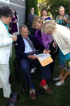 Gay Marriage: George H.W. Bush Served as Witness at a Lesbian Wedding | Ye Olde Journalist