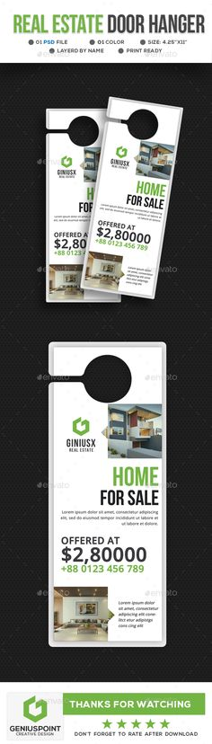 264 Best Door Hanger Template images Blue prints, Door knob