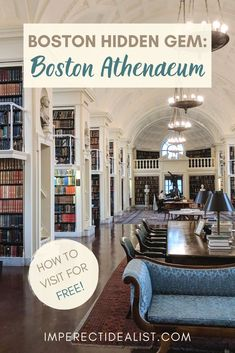 Oldest Library in Boston: Guide to the Boston Athenaeum - The Boston Athenaeum is a beautiful private library in downtown Boston. Here's everything you need to know about visiting, and how you can even get in for free! Places In Boston, Boston Things To Do, Usa Travel Guide, Travel Usa, Travel Tips, Texas Travel, Travel Advice, Beautiful Places To Visit, Cool Places To Visit