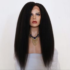 Kinky Straight Wig 8A Grade Brazilian Full lace Wigs Unprocessed Virgin Human Hair Wig With Baby Hair For Black Woman