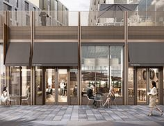 Milburngate is a million masterplan set to transform a prime location in the heart of Durham city centre. Mall Design, Retail Design, Shop Front Design, Retail Architecture, Sustainable Architecture, Architecture Design, Entrance Design, Facade Design, Mix Use Building