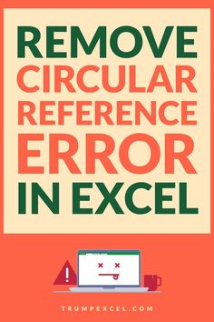 Circular reference error is quite common but you work with formulas in Excel. This usually happens when you end of referring to the same cell in which you have the formula.    In this Excel tutorial, I will show you how to find and remove circular reference errors in Excel.    #Excel #ExcelTips #MSExcel  #ExcelFormulas #CircularReference Microsoft Excel Formulas, Excel For Beginners, Excel Hacks, Pivot Table, Computer Tips, Simple Words, Ireland, How To Remove, Told You So