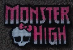 Monster High Logo Plastic Canvas Pattern by BearySweetCreations, $3.00 ...
