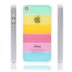 Rainbow Style Hard PC Back Case for #iPhone 4/4S