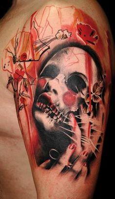 Resultado de imágenes de Google para http://tattoosdesigns.ws/uploads/Black-and-Red--skull-tattoos.jpg