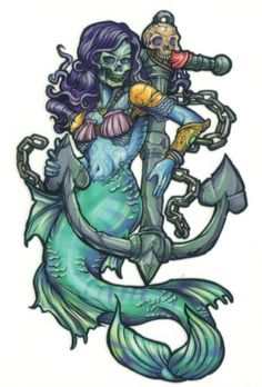 mermaid, an octopus and an anchor - Google Search