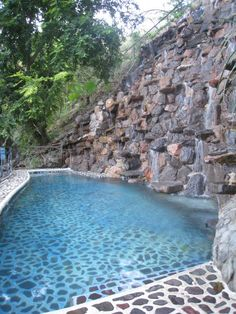 Natural rock and pebble swimming pool in Tequila Mexico