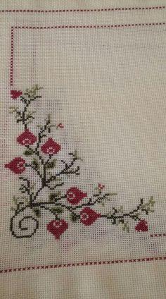 The most beautiful cross-stitch pattern - Knitting, Crochet Love Cross Stitch Borders, Cross Stitch Art, Cross Stitch Flowers, Cross Stitch Designs, Cross Stitching, Cross Stitch Embroidery, Cross Stitch Patterns, Hand Embroidery Designs, Embroidery Patterns