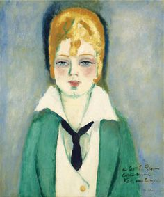 Kees van Dongen, Portrait de femme blonde  on ArtStack #kees-van-dongen #art