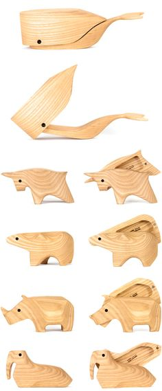wooden animal boxes by karl zahn designvagabond Bandsaw Projects, Wood Projects, Woodworking Jigs, Woodworking Projects, Bandsaw Box, Bois Diy, Wood Animal, Got Wood, Whittling
