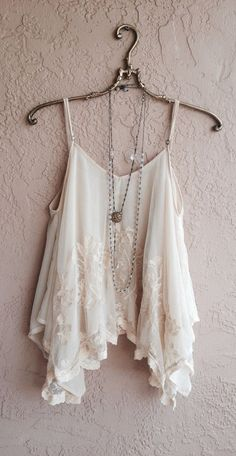 White and flowy