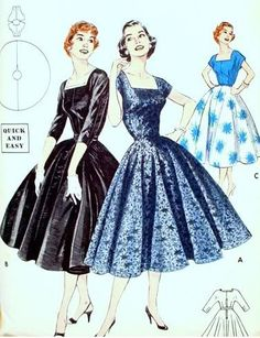 50s Fashion Women | mass production of clothing with the war effort. Ordinary women ...