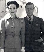 Edward VIII gave up his throne fro Baltimore divorcee, Wallace Simpson. His brother George became King of England.