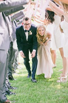 Such a cute photo! http://www.stylemepretty.com/little-black-book-blog/2015/04/29/gold-glitter-blush-calabasas-wedding/ | Photography: Onelove - http://www.onelove-photo.com/