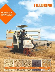 Made up of different parts including the header, reel, cutter bar, sieves, rotating blades, grain tank, unloading pipe, augers, conveyors, belts, layers, wheels and much more, a #multicropharvester can be used to harvest, winnow and thresh crops like rice, corn, wheat, sunflower, pulses, barley, flax and soybeans. #CombineHarvester #harvesterprice #harvestermachine #combineharvestermachine #harvestermachineprice #combineharvesterprice #harvestermachinepriceinIndia… Harvest Corn, Agriculture Machine, Combine Harvester, Flood Damage, Rural Area, Chopper, Homesteading, Artisan, Community