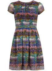 Floral printed tea dress