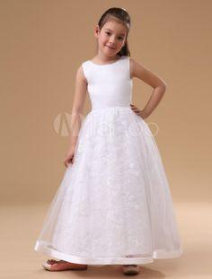 Vestido da menina de flor de cetim branca sem mangas encantador - Milanoo.com http://www.milanoo.com/pt/produto/vestido-da-menina-de-flor-de-cetim-branca-sem-mangas-encantador-p14841.html