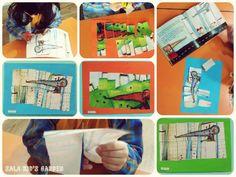 O rato do campo e o rato da cidade - puzzle da história + recorte + montagem do puzzle - 5 anos