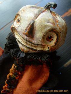 Halloween Art Doll Halloween Folk Art by Melissa Valeriote