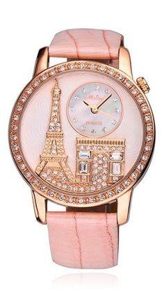 Pink Paris-themed Watch