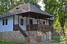 Traditional Romanian house from Chiojd, Buzau (house from the century) (explored h. House On A Hill, My House, Villa Design, House Design, Triangle House, Rural House, Vernacular Architecture, Unusual Homes, Dream Home Design