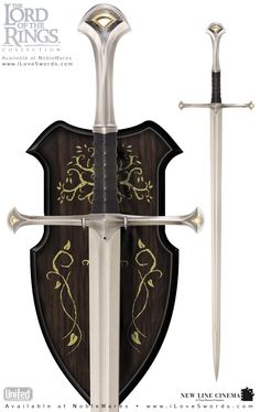 Lord of the Rings Narsil Sword of King Elendil by United Cutlery image Large Image Fantasy Sword, Fantasy Armor, Fantasy Weapons, Lotr Swords, Knives And Swords, Tolkien, Medieval, United Cutlery, Knife Patterns