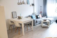 Small Living Dining, Living Dining Combo, Small Apartment Living, Living Room Interior, Home Living Room, Living Room Designs, Living Room Decor, First Apartment Decorating, Apartment Design