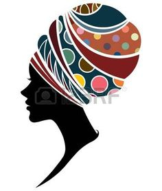 Illustration of illustration vector of African women silhouette fashion models, beautiful black women on white background vector art, clipart and stock vectors. Arte Tribal, Tribal Art, Black Girl Art, Black Women Art, Beautiful Black Women, Art Sketches, Art Drawings, African Art Paintings, African Drawings