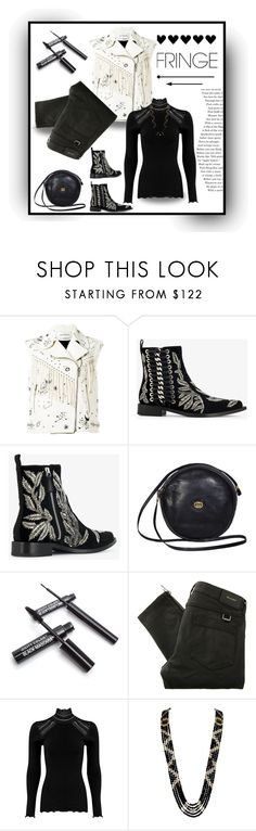 """""""Shimmy Shimmy Fringe: Valentino Biker Jacket"""" by affton ❤ liked on Polyvore featuring Valentino, Alexander McQueen, Gucci, Belstaff and Rosemunde"""