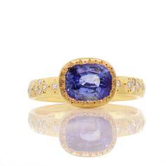 Adel Chefridi Ceylon Sapphire and Diamond Ring