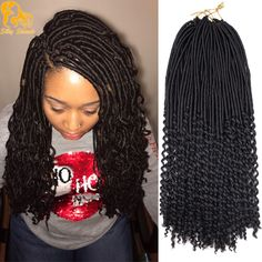 Buy Synthetic Soft Locks Braiding Extensions Faux Locs With Curly Ends Crochet Braid Hair at Home - Design & Decor Shopping Box Braids Hairstyles, My Hairstyle, African Hairstyles, Girl Hairstyles, Model Hairstyles, Black Hairstyles, Wedding Hairstyles, Hairstyles 2016, Hairstyle Ideas