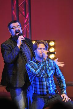 Rob Lundquist and Adam Rupp of Home Free performs at Bomhard Theater on October 22 2014 in Louisville Kentucky