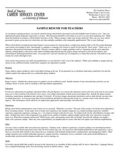 Music Teacher Resume Samples  Teacher Resume Examples