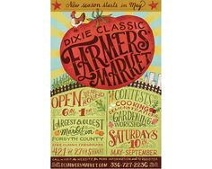 Dixie Classis Farmers Market - Mary Kate McDevitt • Hand Lettering and Illustration