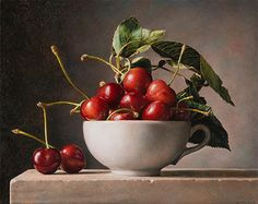 Cup of Cherries - 2017 olio su masonite cm 23x29 © Gianluca Corona