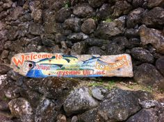 Signage painted - Fishing village in Batanes