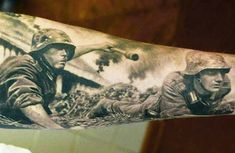 Realistic black and gray War tattoo by Den Yakovlev | Post 8381 | World Tattoo Gallery - Best place to Tattoo Arts