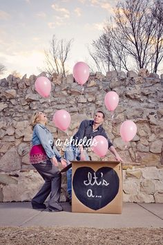 Gender Reveal with Balloons Amarillo, TX It's a Girl - Photo by A Shields Photography